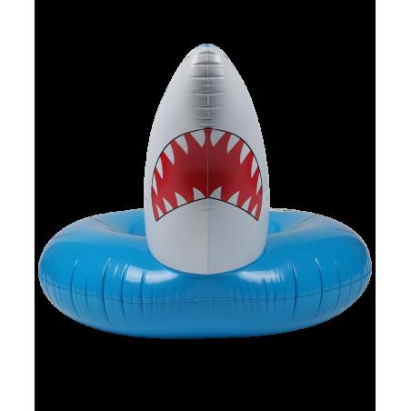 Bouée Gonflable Ronde XXL pour Piscine & Plage Ultra Confort, Flotteur Deluxe - Requin ø115cm