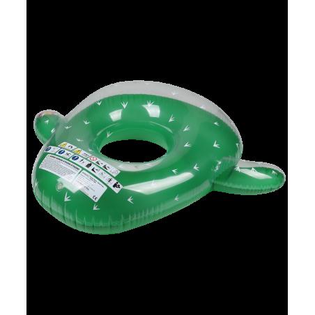 Bouée Gonflable Ronde XXL pour Piscine & Plage Ultra Confort, Flotteur Deluxe - Cactus ø130cm