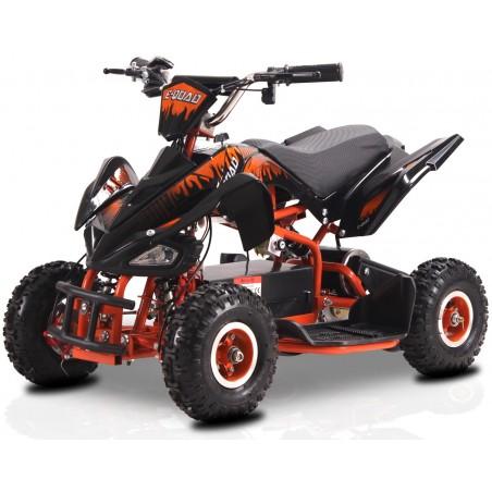 E-Quad électrique 800 Watts pour Enfant - Noir/Orange