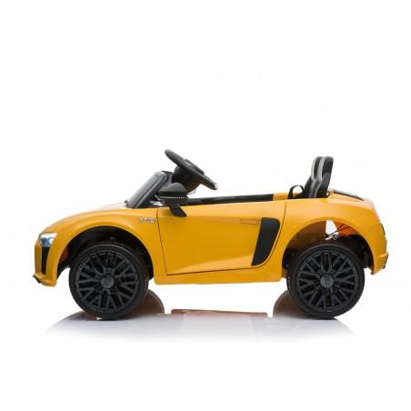 Audi R8 Spyder Voiture Electrique (2x35W) 100 x 59 x 44 cm - Marche av/ar, Phares, Musique, Ceinture et Télécommande parentale