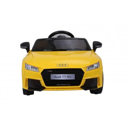 Audi TT RS Voiture Electrique Enfant (2x25W) 103x62x44 cm - Marche av/ar, Phares, Musique, Ceinture et Télécommande parentale