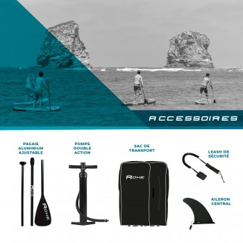 Pack Stand Up Paddle gonflable ROHE 8'7