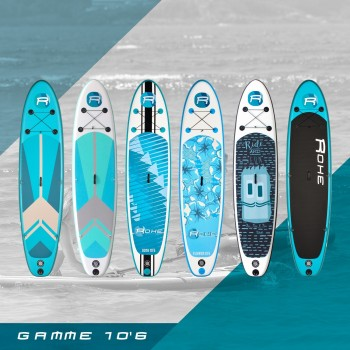 Stand Up Paddle Planche A Voile Gonflable Rohe 305 X 76 X 15 Cm Avec Greement Complet 3m Et Accessoires
