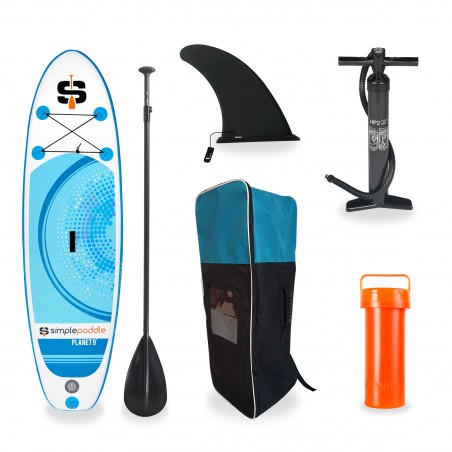 Pack Stand Up Paddle Gonflable 9'  PLANET Cyan