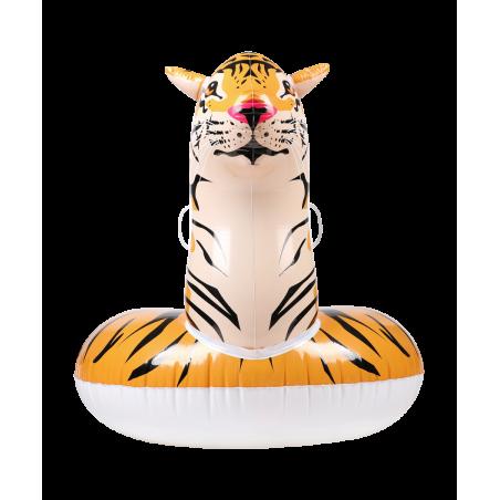 Bouée Gonflable XXL Chevauchable, Piscine & Plage, Flotteur Deluxe - Tigre - 150x105x100cm