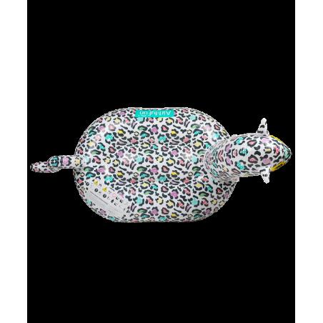 Bouée Gonflable XXL Chevauchable, Piscine & Plage, Flotteur Deluxe - Léopard 150x150x105cm